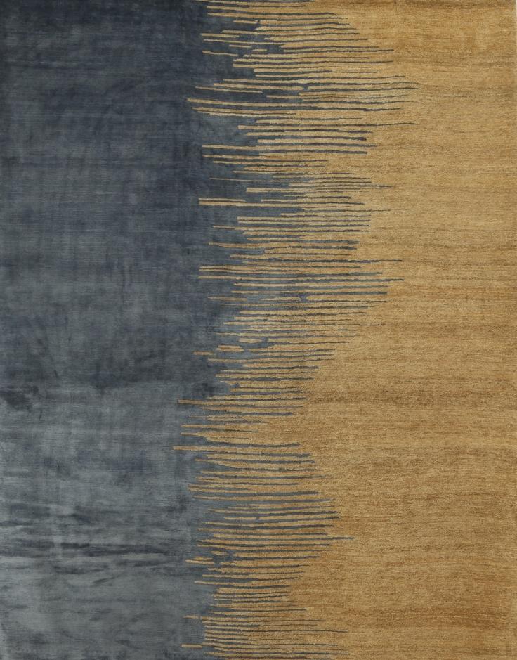 Congo Rug in Silk and Hemp
