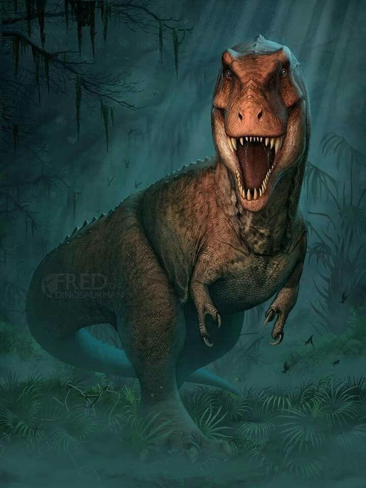 *Tyrannosaurus. Art by Fred Wierum