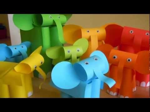 Too Many Elephants in This House - paper elephant craft