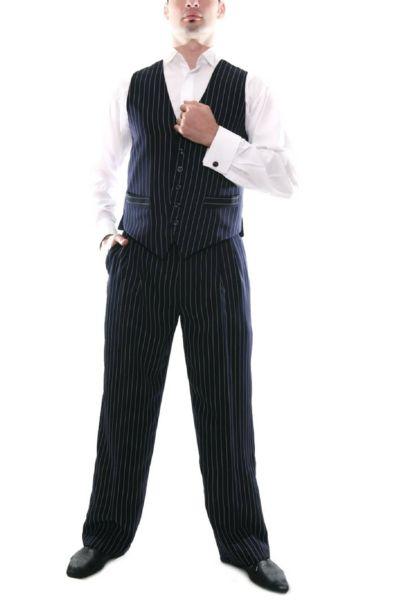 Men's Blue Tango Pants   conSignore Tango Clothes for Men   #tangopants #menstangopants #menstangoclothes #argentinetango