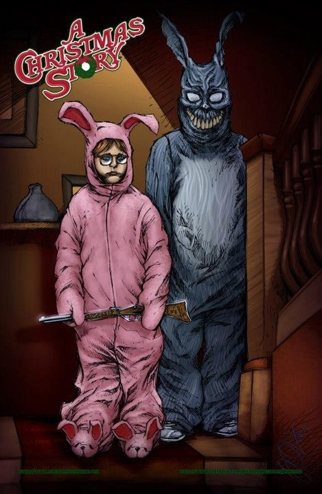 """Ralphie and Frank from the movie """"A Christmas Story"""""""