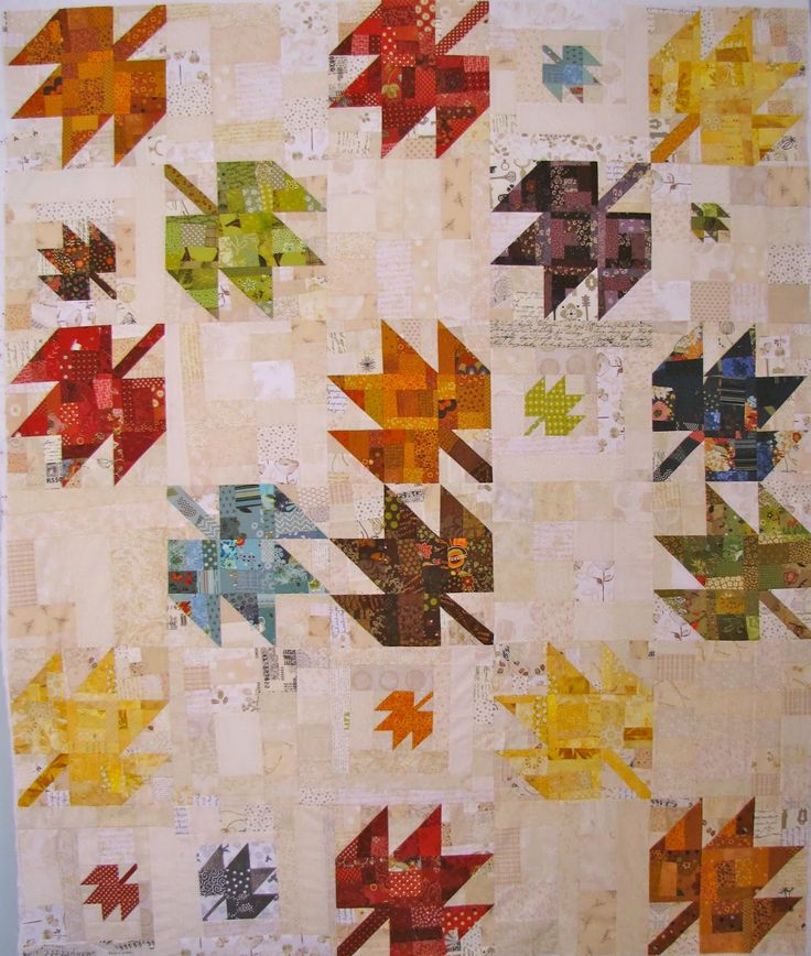 Quilt Template Leaves : I LOVE this one. K&S Design Girls: Scrappy Modern Maple Quilt... Autumn Leaf Quilt Ideas ...