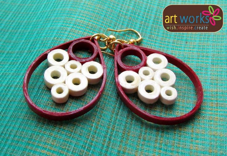 Eco Friendly Handmade Quilled Earrings