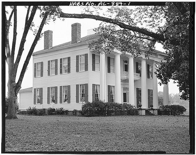 ca. 1849 Warren Stone House, County Highway 40 west of County Highway 37, Burkville, Lowndes County, AL - Photos from Survey HABS AL-889   Library of Congress