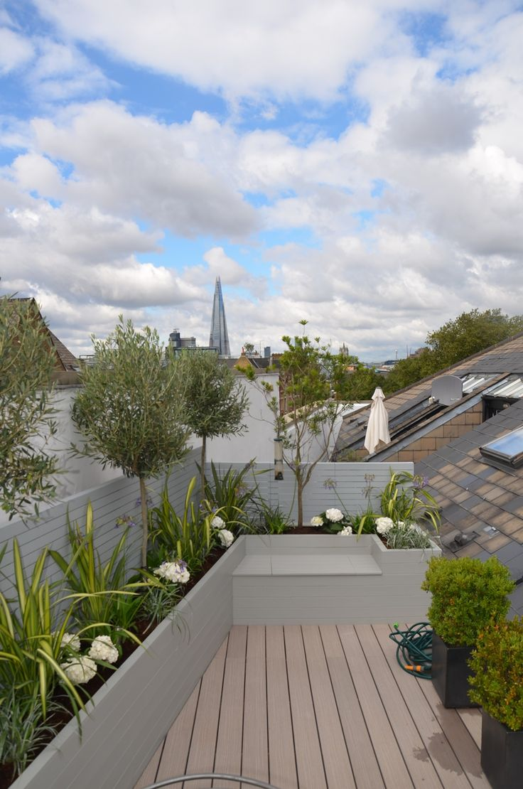Roof Terrace And Balcony Garden Design Tower Bridge Fulham