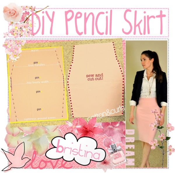"""""""DiY Pencil Skirt"""" by the-tip-nerds on Polyvore"""