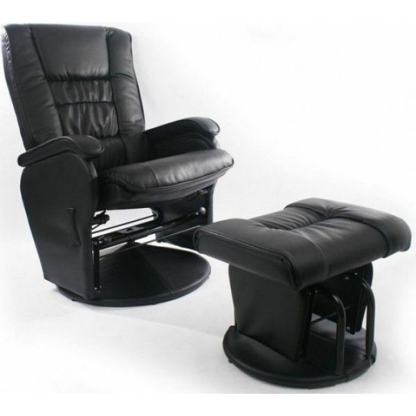 Love N Care Elite Glider Chair U0026 Ottoman   Black