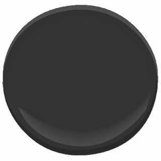 """door color: the color choice for the back door was an easy one for me--onyx by benjamin moore. it is my favorite black--dark but soft, and with a neutral tone to it. all of the other doors in the house are a slightly softer black called """"blackjack"""", but i want the exterior doors to be just a little bit darker and shinier."""