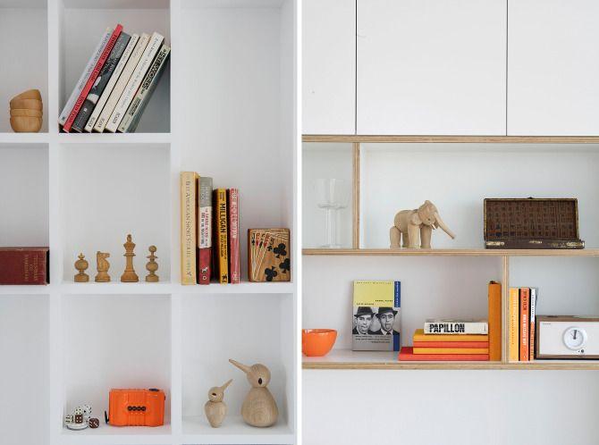 hoop ply with white Laminex and polyurethane Apartment Barnes McManus - Tribe Studio Architects