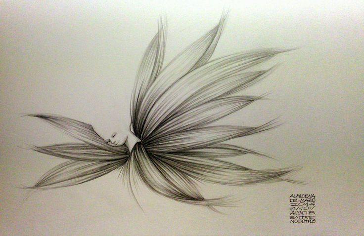 """Cada día un Dibujo : 19 de noviembre de 2014. """"Ángeles entre nosotros"""""""