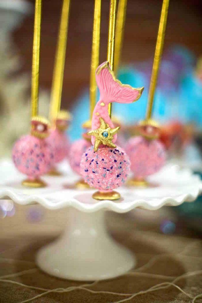 Featured on Karau0027s Party IdeasMy mermaid cake