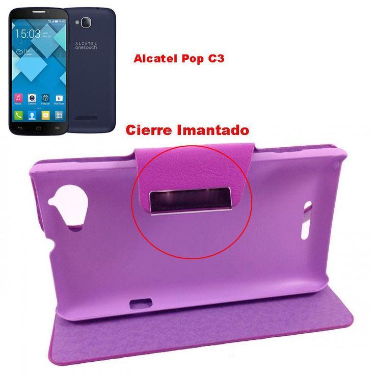 Funda Flip Cover Tipo Libro Con Tapa Rígida Para Telefono Alcatel Pop C3 - http://complementoideal.com/producto/funda-tipo-libro-con-tapa-rigida-para-alcatel-pop-c3/  - Con la Funda Tipo Libro Con Tapa Rígida Para Alcatel Pop C3 tendrás una protección total del tu teléfono móvil, ya que protege tanto delante como la parte de atrás de esta forma tendrás protección 100% del dispositivo. Diseñada exclusivamente para Alcatel Pop C3, encajandoperfectamente además