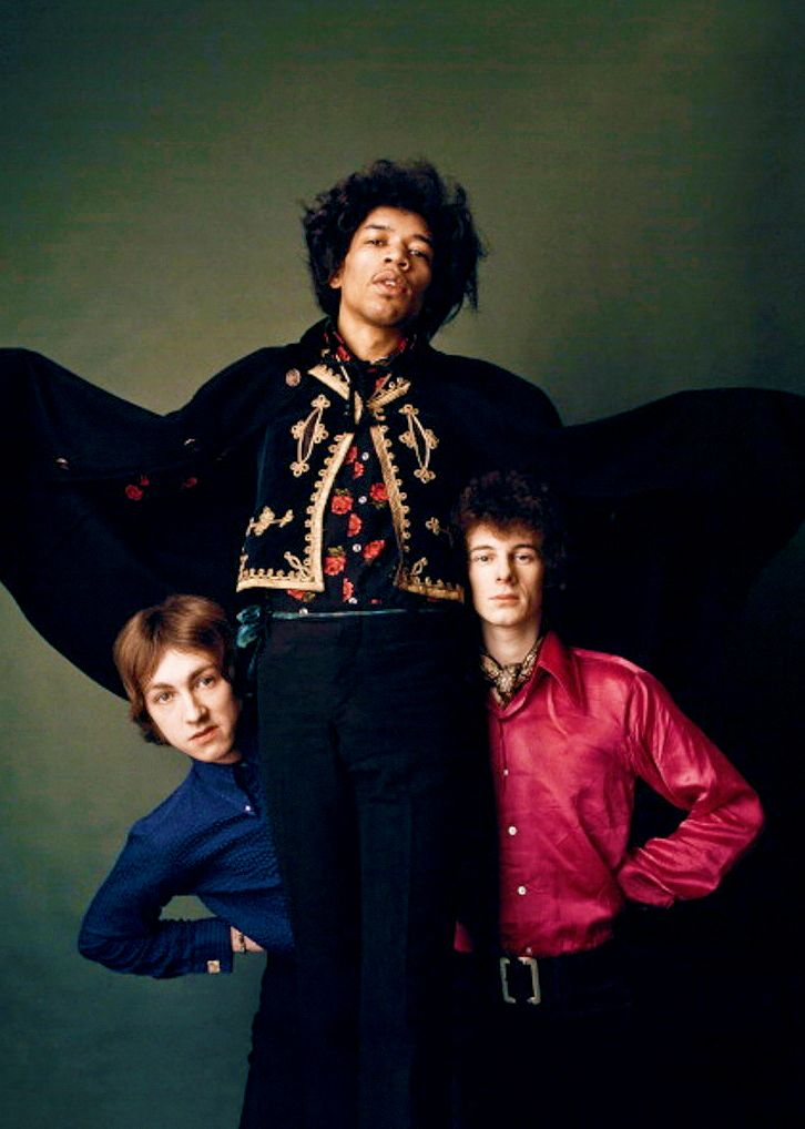 An alternate photograph taken for the Are You Experienced? record cover, the landmark 1967 album by The Jimi Hendrix Experience.