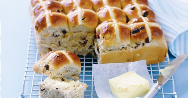 "Thinking of making hot cross buns for Easter? Make these and freeze ahead! Taste members called this recipe ""a HUGE success"""
