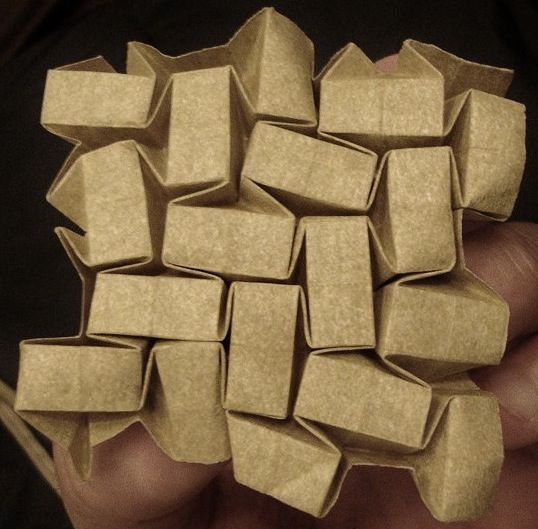 Andrea Russo paper folding origami tessellation