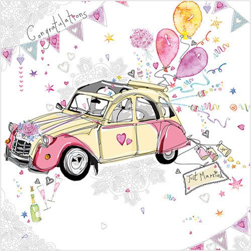 Just Married Phoenix Trading £1.75 each or £1.40 when buying 10 or more. Anniversary, Valentines, Engagement, Wedding #CarolinesCardsandStationery #CarolineStokleIndependentPhoenixTrader