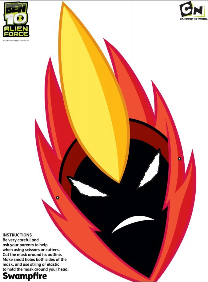 ben 10 coloring masks pages - photo#17