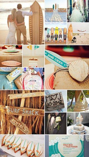 surfer wedding theme