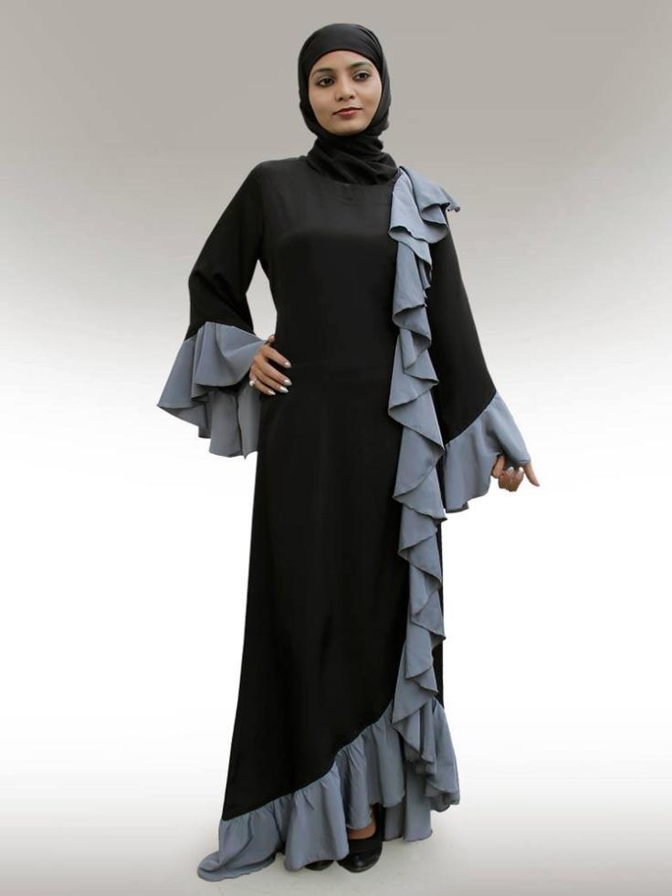 Ruffle abaya #Islam #abaya #hijab