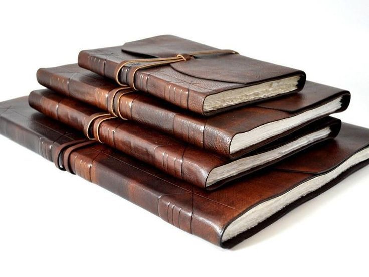 Largest Leather Artist Sketchbook Journal 18 x 14 Hand Torn Deckle Paper
