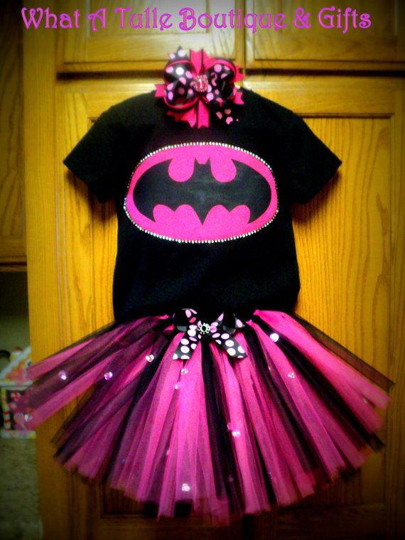Batman Halloween Costume for Girls by CountryCoutureBling on Etsy, $40.00