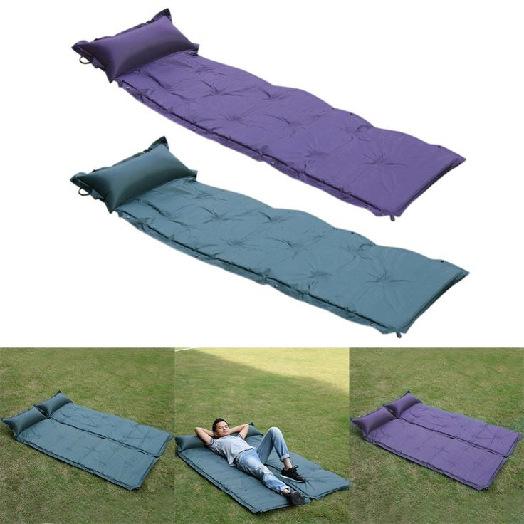 (29.18$)  Buy here  - High quality Outdoor Moisture-Proof Mat Outdoor Nap Pad Camping Waterproof Polyester Mat PVC Automatic Inflatable mattresses