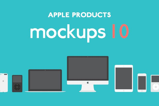 MacbookにiPhoneも!Apple社のかっこいい無料モックアップ素材10選