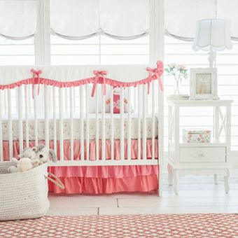 Fall In Love With Bright And Sweet Floral Baby Bedding! Coral Floral Baby  Bedding From