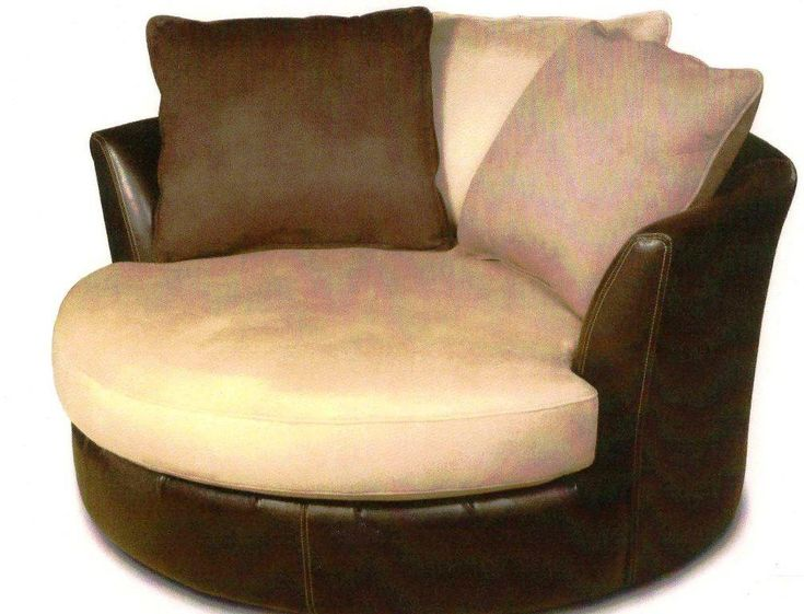 Round Loveseat Made Of Leather For Living Room Will Add A Bit Of Enchanting  Decorating Style