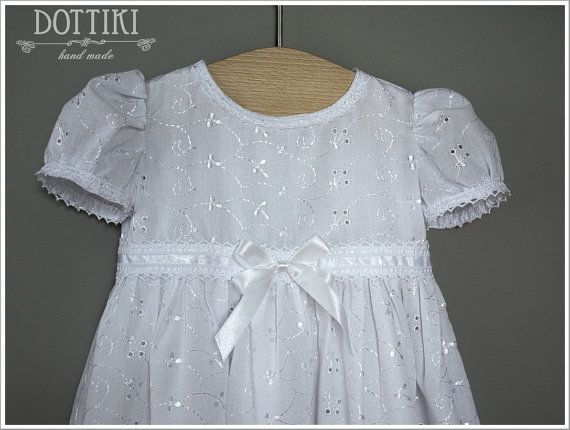 Baby Girl Christening Dress Christening Gown Baptism Dress #BabyGirlChristeningDress, #BaptismDress #dottiki