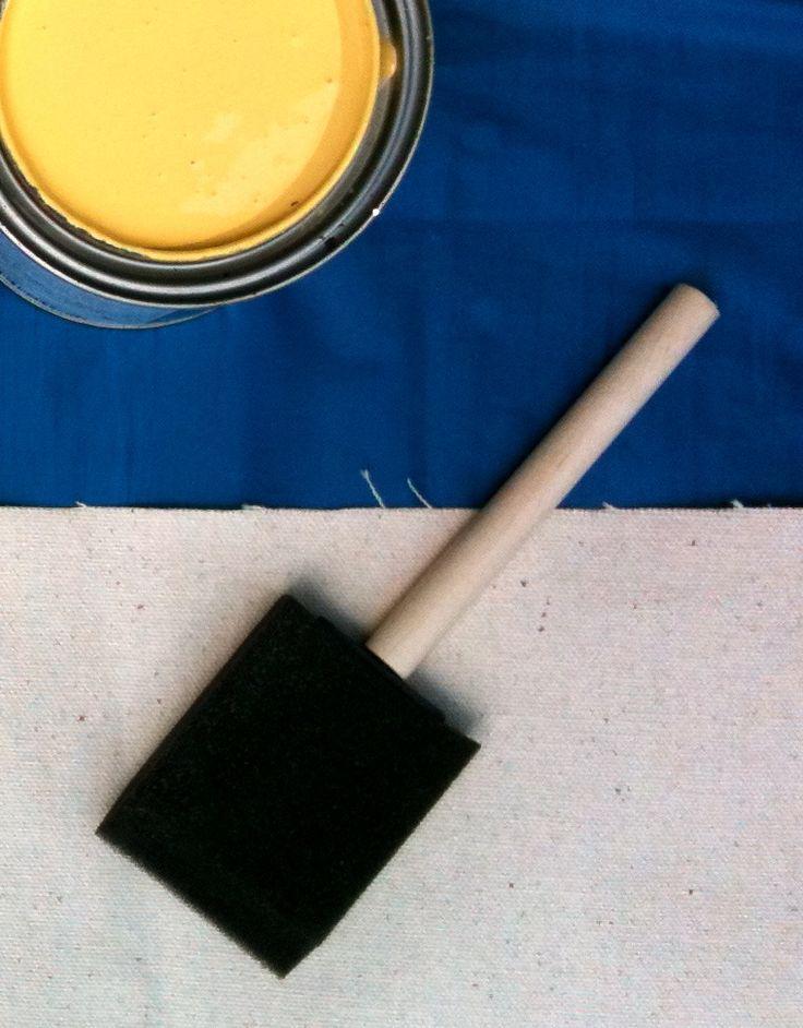 painted floor cloth tutorial