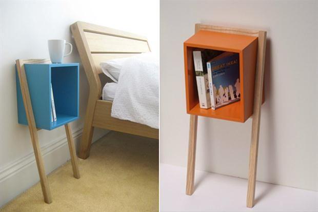 10 modelos de mesa de luz para tu cuarto Un diseño original y muy adecuado para espacios reducidos