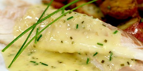 Whole Fish Baked in a Salt Crust with Chive Beurre Blanc