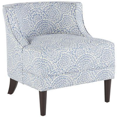 Eva is like a warm hug from your best-dressed friend. Hand-upholstered to the nines in a tweed-like polyester, our contemporary chair has curves in all the right places. Contoured back and deep seat provide uncommon comfort; self-welted fabric and smooth espresso legs add sophistication and style.