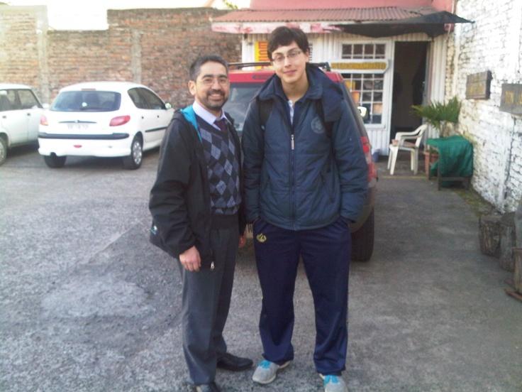 Con Felipe Noa