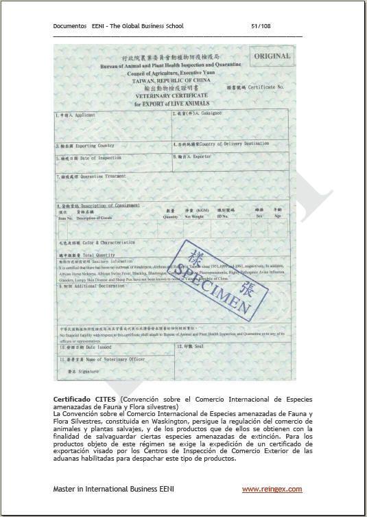 Documentos de importación