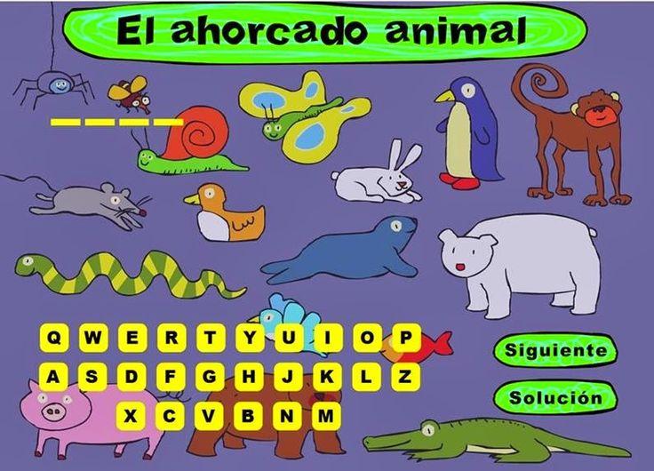 El juego del ahorcado es un clásico en nuestros colegios, en este caso se centra sobre el tema de los nombres de animales