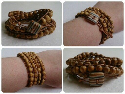 Unisex wooden wrap. By Clair Bartram of Folbar Handmade Jewellery.