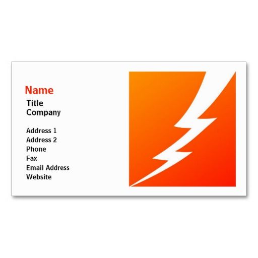lightning link template - 2168 best images about bold business cards on pinterest