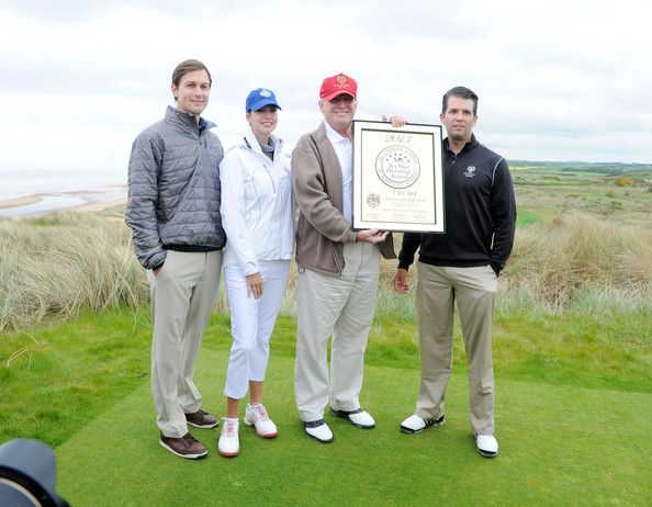 Ivanka Trump - Donald Trump Visits His Golf Course in Scotland