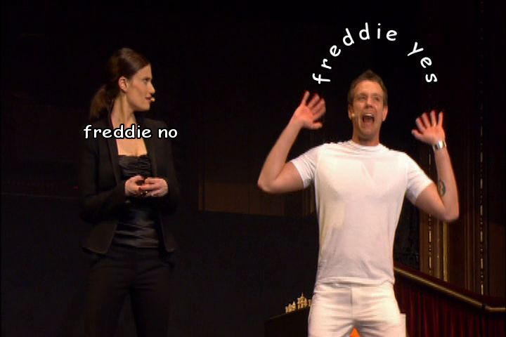 the whole musical<< I don't think it is possible to not love Freddie by the end of the musical.