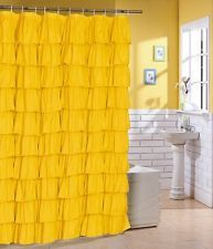 sunny yellow shower curtain
