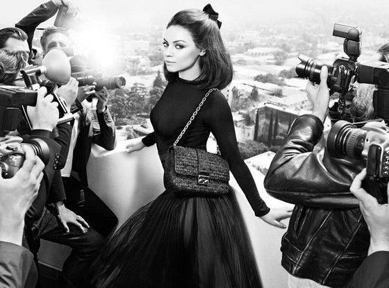 Mila Kunis channels old-school Euroglam for Christian Dior