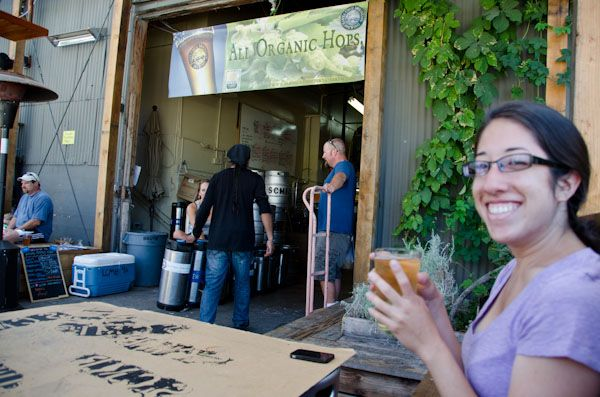 Stop for a pint of locally made organic beer - Santa Cruz Mountain Brewing Company