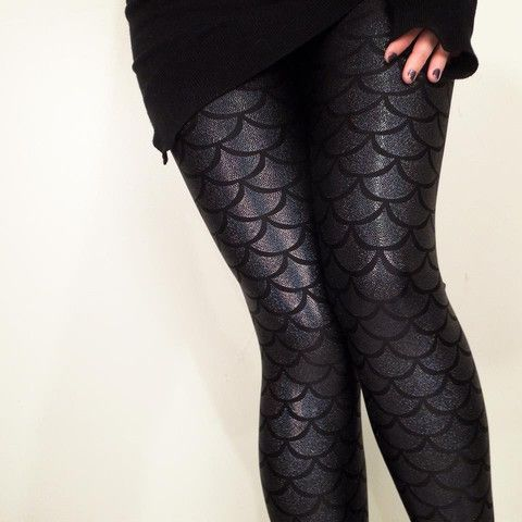Gold Stitches - Evil Mermaid Leggings, $65 #mermaid #fashion #style
