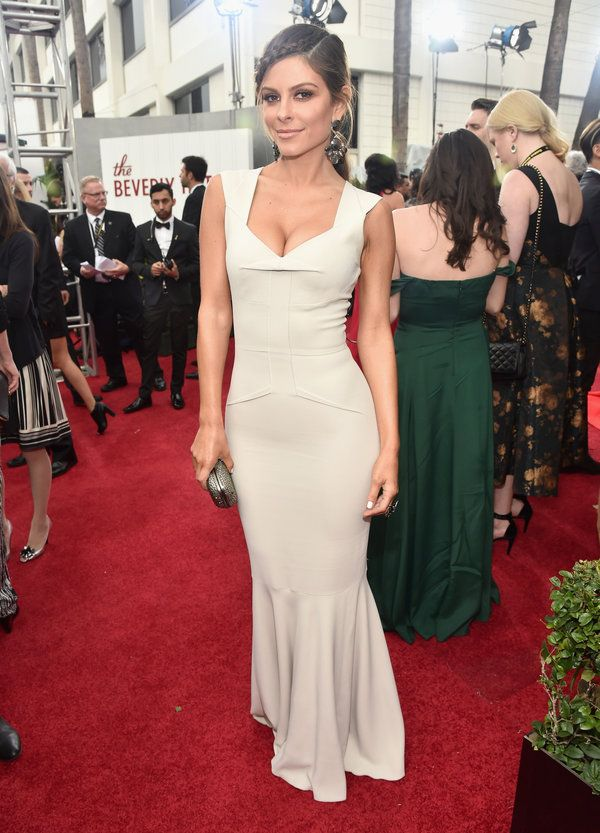 My husband likes this dress! Maria Menounos From The Golden Globes Red Carpet