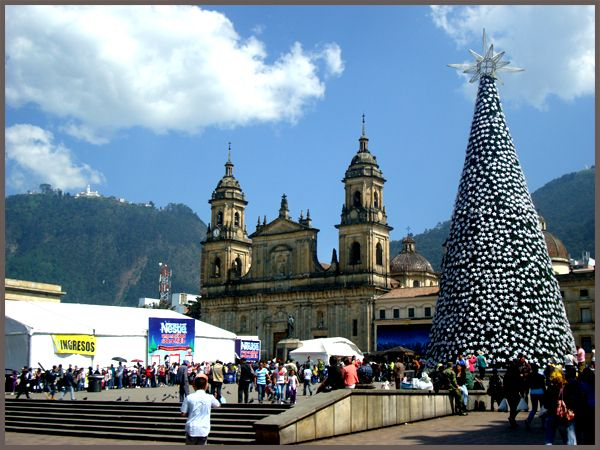 Getting ready for Xmas in Bogota, Colombia.