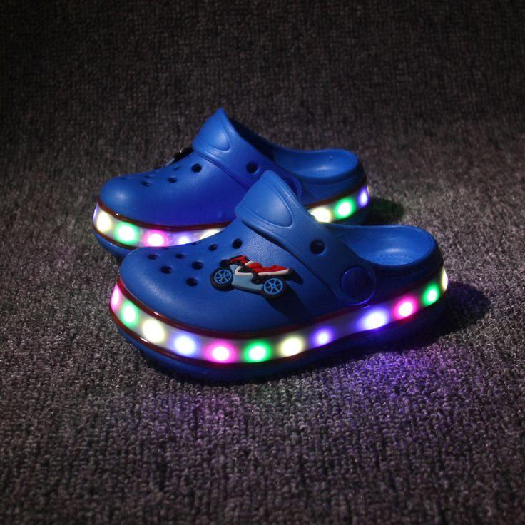 >> Click to Buy << 2016 New Children Led EVA Garden Shoes Kids Summer Beach Mules Clogs Sandal Mules Boy Girl With Light Goma Holes Plastic Slipper #Affiliate