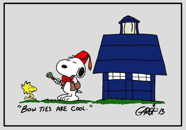 Snoopy! I knew it! Time lord. I love it! Peanuts and Doctor Who
