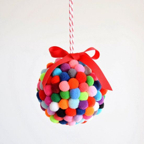Sharing how to make some bright and colourful pom pom ornaments that you can make with your kids!